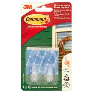 Haczyki do wieszania na zewnątrz 2 szt. 0,9 kg udźwig COMMAND
