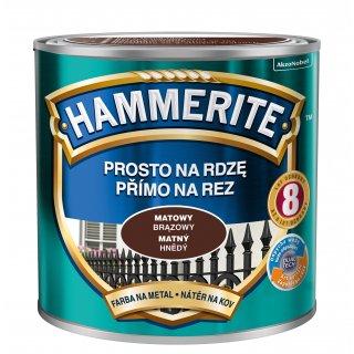 Farba na rdzę mat brązowy 0,25 L Hammerite AKZO