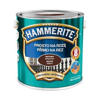 Farba do metalu Mat Brązowy 2,5 L HAMMERITE