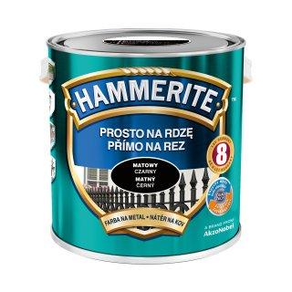 Farba na rdzę mat czarny 2,5 L Hammerite AKZO