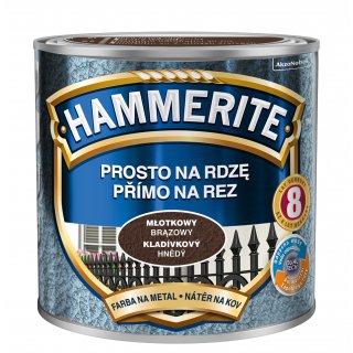 Farba na rdzę młotkowy brązowy 0,25 L Hammerite AKZO