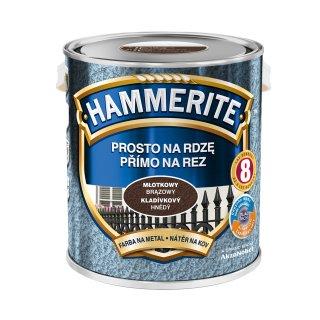 Farba na rdzę młotkowy brązowy 2,5 L Hammerite AKZO