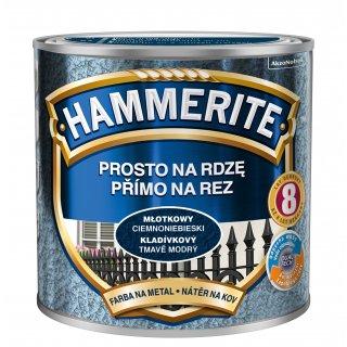 Farba na rdzę młotkowy ciemnoniebieski 0,25 L Hammerite AKZO