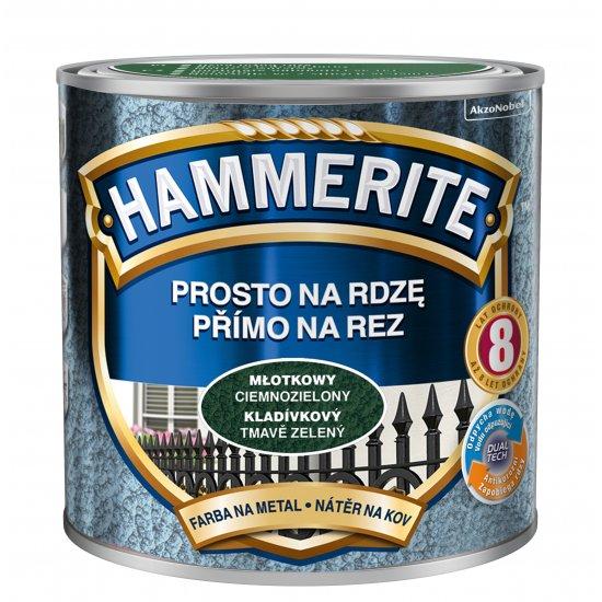 Farba na rdzę młotkowy ciemnozielony 0,25 L Hammerite AKZO