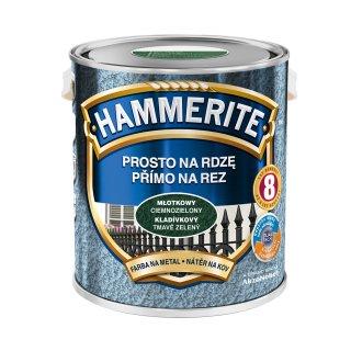 Farba na rdzę młotkowy ciemnozielony 2,5 L Hammerite AKZO