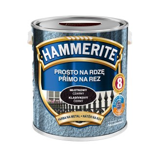 Farba na rdzę młotkowy czarny 2,5 L Hammerite AKZO