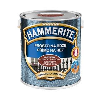 Farba do metalu Młotkowy Czerwony Tlenkowy 2,5 L HAMMERITE