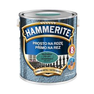 Farba do metalu Młotkowy Zielony 2,5 L HAMMERITE