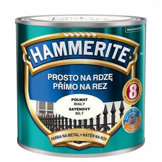 Farba na rdzę półmat biały 0,25 L Hammerite AKZO