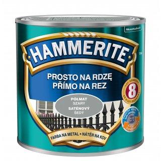 Farba na rdzę półmat szary 0,25 L Hammerite AKZO