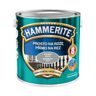 Farba do metalu Półmat Szary 2,5 L HAMMERITE