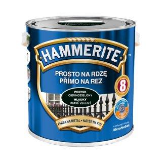 Farba do metalu Połysk Ciemnozielony 2,5 L HAMMERITE