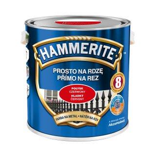 Farba do metalu Połysk Czerwony 2,5 L HAMMERITE