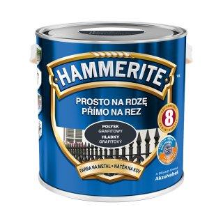 Farba do metalu Połysk Grafitowy 2,5 L HAMMERITE