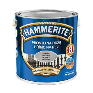 Farba na rdzę połysk srebrny 2,5 L Hammerite AKZO