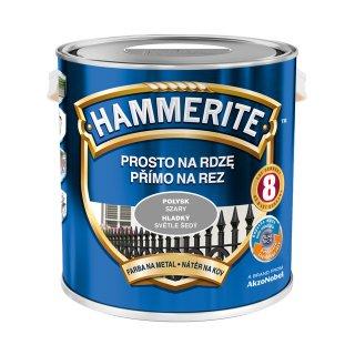Farba do metalu Połysk Szary 2,5 L HAMMERITE