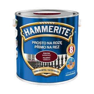 Farba do metalu Połysk Wiśniowy 2,5 L HAMMERITE
