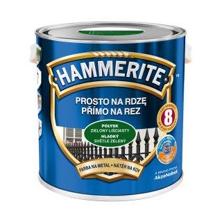Farba do metalu Połysk Zielony liściasty 2,5 L HAMMERITE
