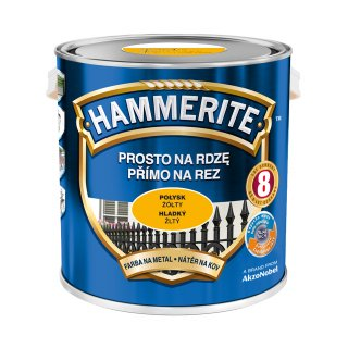 Farba do metalu Połysk Żółty 2,5 L HAMMERITE