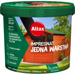 Impregnat do drewna 5 l kasztan ALTAX
