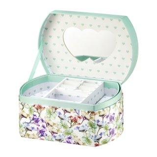 Pudełko z lusterkiem Look Kwiaty 16,5 x 11 x 8,5 cm AMBITION