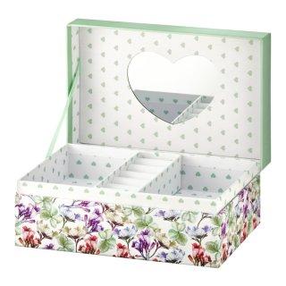 Pudełko z lusterkiem Look Kwiaty 18x11x7,5 cm AMBITION