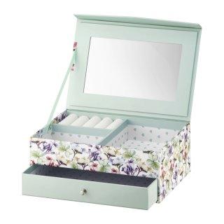 Pudełko z szufladką i lusterkiem Look Kwiaty 20x14x8 cm AMBITION