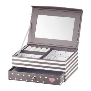 Pudełko z szufladką i lusterkiem Look Classic 20x14x8 cm AMBITION