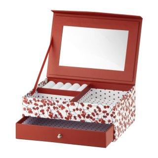 Pudełko z szufladką i lusterkiem Look Holly 20 x14x8 cm AMBITION