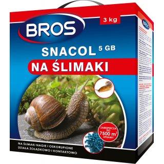 Preparat przeciw ślimakom Snacol 3 kg BROS
