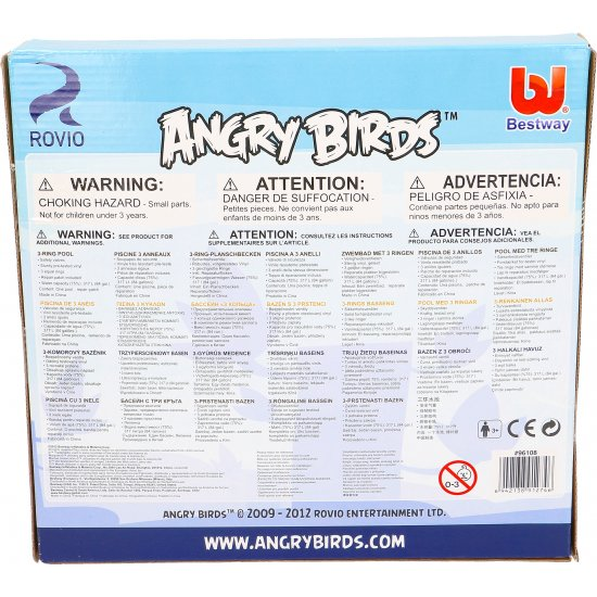 Basen dmuchany motyw Angry Birds 152 x 30 BESTWAY