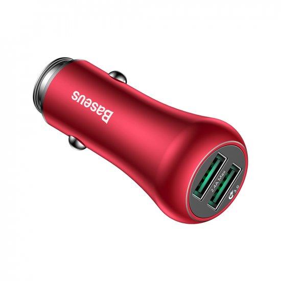 Ładowarka samochodowa Gentry QC 3,0 czerwona BESAUS