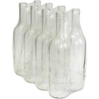 Butelka na wino 0,75l - zgrzewka 8szt. - biała BROWIN