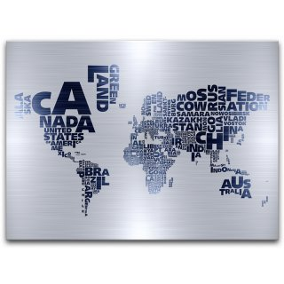 Obraz Canvas Maps Steel 113x150 STYLER