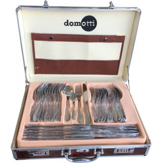 Komplet sztućców Maria 72-elementowy w aluminiowej walizce DOMOTTI