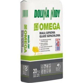 Gładź szpachlowa gispowa Omega 20 kg DOLINA NIDY