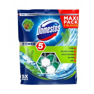 Kostki do WC power 5 pine 5 x 55 g DOMESTOS