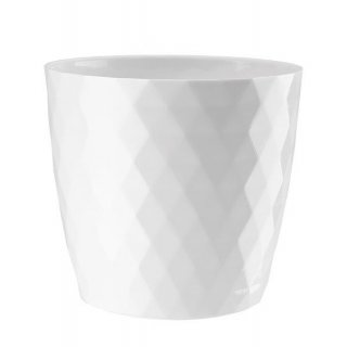 Doniczka Cristal 18 cm biały GALICJA