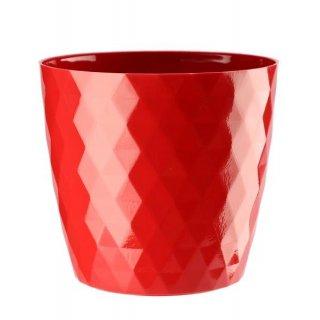 Doniczka Cristal 18 cm czerwona GALICJA