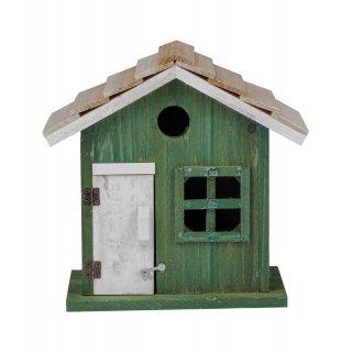 Drewniany domek dla insektów zielony 15x8x20 cm