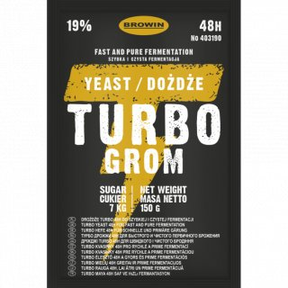 Drożdże gorzelnicze TURBO GROM 48h - 150g BROWIN