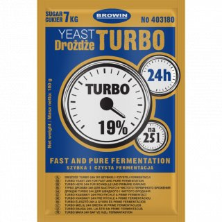 Drożdże gorzelnicze Turbo Browin 24h - 180g BROWIN
