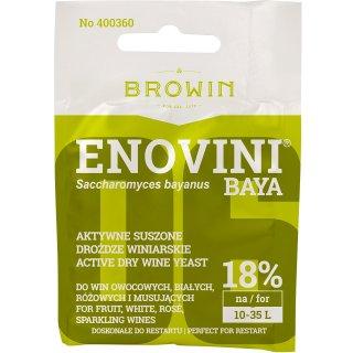 Drożdże winiarskie suszone Enovini BAYA 7g BROWIN