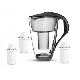 Dzbanek filtrujący szklany + 3 filtry DAFI