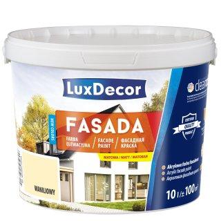 Farba Luxdecor Fasada Waniliowy 10 L UNICELL