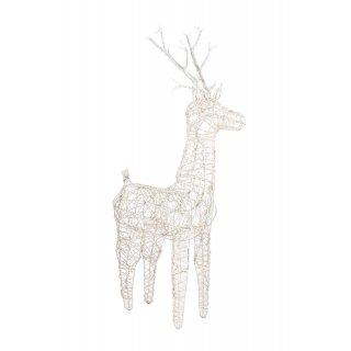 Figurka z wikliny z oświetleniem LED 83 cm zimny biały KAEMINGK