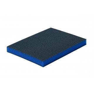 Gąbką ścierna 124x98x12 mm, gr. 220 BLUE DOLPHIN