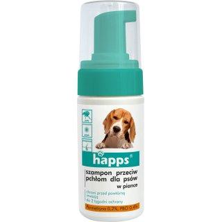 Szampon dla psów przeciw pchłom w piance 100 ml HAPPS