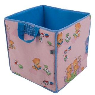 Kwadratowy kosz na zabawki Misie L069-11BW 30 x 30 x 30 cm PATIO