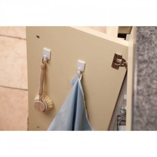Haczyk samoprzylepny Powerstrips 3 szt. kwadratowy, mały, biały TESA